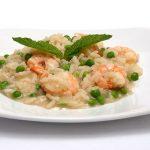 Ριζότο με γαρίδες και αρακά