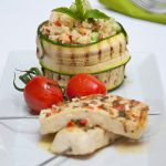 Kους-κους λαχανικών με  χαλούμι σουβλάκι