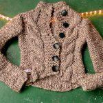 Φτιάξε ζακέτα από ένα παλιό ή κοντό πουλόβερ