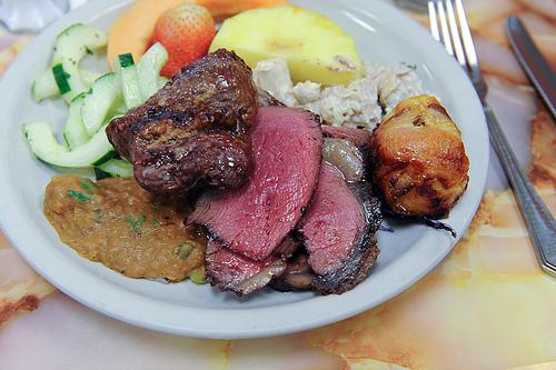 Κρέας ελαφρώς ή μέτρια ψημένο;  Όχι ευχαριστώ - Δηλώνω φανατική εχθρός του ελαφρώς και μετρίως ψημένου κρέατος. Αλλά αφου δεν είμαστε όλοι ίδιοι εσείς πως το προτιμάτε το κρέατάκι σας;