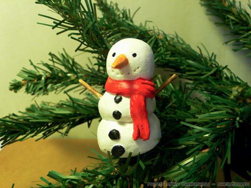 Φτιάξτε χιονάνθρωπο με αλατοζύμη - Πάμε να φτιάξουμε όμορφους χειροποίητους χιονάνθρωπους για να στολίσουμε το χριστουγεννιάτικο δέντρο μας