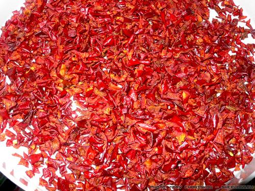 Δύο κιλά αποξηραμένες πιπεριές φλωρίνης
