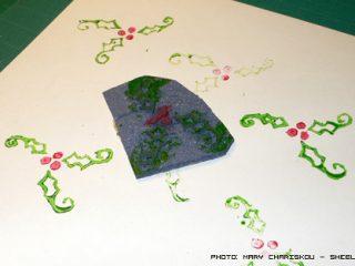 Φτιάξε χριστουγεννιάτικες σφραγίδες με λινόλεουμ