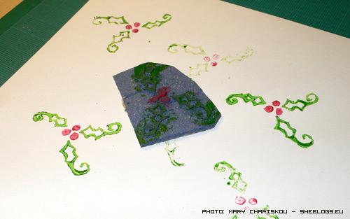Φτιάξε χριστουγεννιάτικες σφραγίδες με λινόλεουμ - Αν έχετε αρκετή υπομονή και δεξιοτεχνία δοκιμάστε να φτιάξετε τις δικές σας χριστουγεννιάτικες σφραγίδες