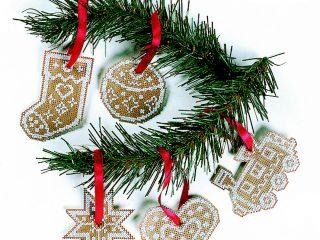 Κεντήστε χριστουγεννιάτικα στολίδια