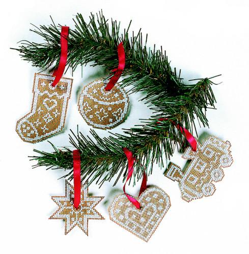 Κεντήστε χριστουγεννιάτικα στολίδια - Είναι όμορφα, μοιάζουν με χριστουγεννιάτικα κουλουράκια και η DMC προσφέρει δωρεάν τα σχέδια τους online!
