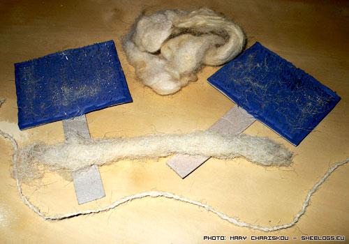 Φτιάχνουμε αυτοσχέδια λανάρια για λανάρισμα μαλλιού - Φτιάχνουμε αυτοσχέδια εργαλεία για λανάρισμα ώστε να αρχίσουμε να γνέθουμε μαλλί προβάτων για να φτιάξουμε νήμα πλεξίματος