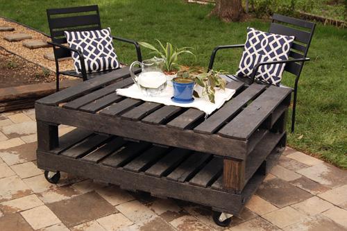 Φτιάξε τραπεζάκι κήπου με παλέτες - Απλή, εύκολη και όμορφη κατασκευή με παλέτες. Λογικά φτιάχνεται μέσα σε ένα μισάωρο αν συγκεντρώσεις τα υλικά που χρειάζονται