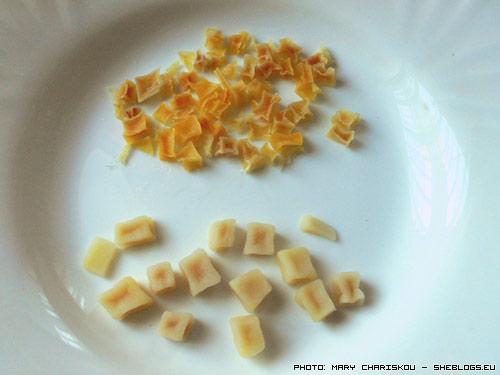 Αποξηραίνω πατάτες σε κύβους