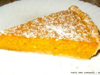 Τάρτα κολοκύθας με τυρί και σιμιγδάλι