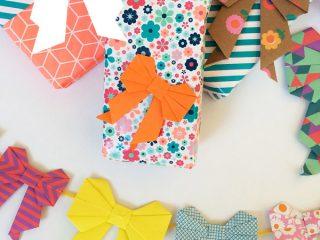 Φτιάξε Origami φιόγκους για να διακοσμήσεις τα πακέτα των δώρων σου
