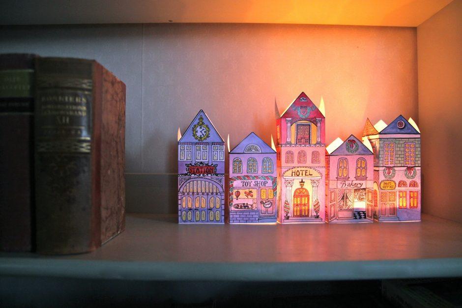 Φτιάξε φωτιζόμενο χριστουγεννιάτικο χωριό - Τόσο γλυκό, τόσο διαφορετικό και τόσο όμορφο! Μπορεί να δώσει χρώμα σε μια γωνιά και να φωτίζει απαλά το χώρο