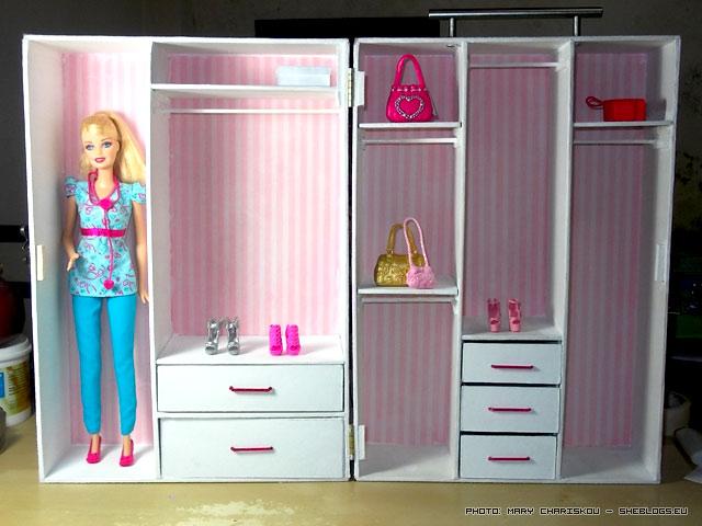 Χειροποίητη Ντουλάπα Barbie - Η πιο όμορφη ντουλάπα του κόσμου γιατί φτιάχτηκε με αγάπή για τη μικρή μου ανιψιά που ζήτησε τη ντουλάπα της Barbie για τα Χριστούγεννα