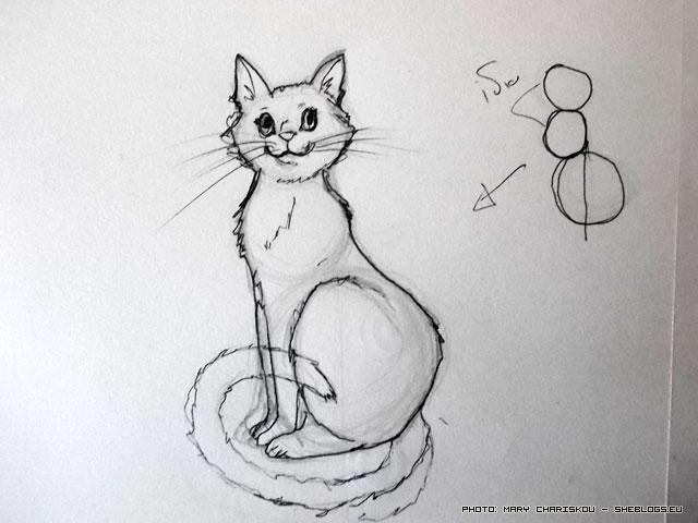Μάθε να σχεδιάζεις γάτες - Ας δούμε πόσο εύκολα μπορούμε να σχεδιάσουμε μια γάτα σε 2 λεπτά, με λίγη εξάσκηση μπορούμε να τελειοποιήσουμε την τεχνική
