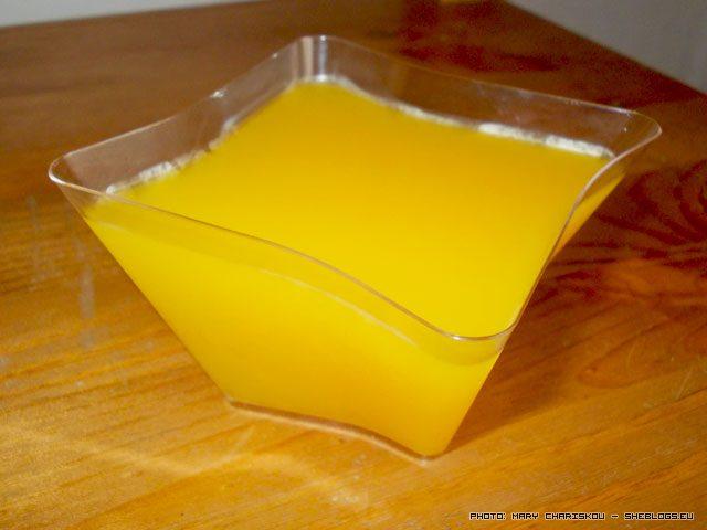 Ζελέ από χυμό πορτοκάλι με ζαχαρίνη