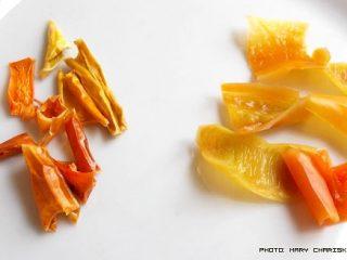 Αποξηραίνω πιπεριές για τηγάνι