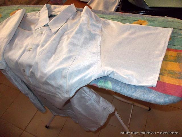 Μετατροπή πουκαμίσου σε κοντομάνικο - Τι κάνεις αν έχεις πολλά μακρυμάνικα πουκάμισα ενώ χρειάζεσαι κοντομάνικα; κόβεις τα μανίκια!