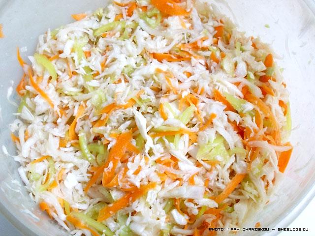Γλυκόξινο λάχανο σε βάζα