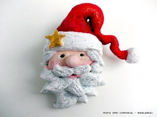 Φτιάξε χριστουγεννιάτικο στολίδι του Αι Βασίλη με αλατοζύμη