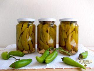 Φτιάξε Μπακάλικα Πικάντικα Πιπεράκια σε βάζο