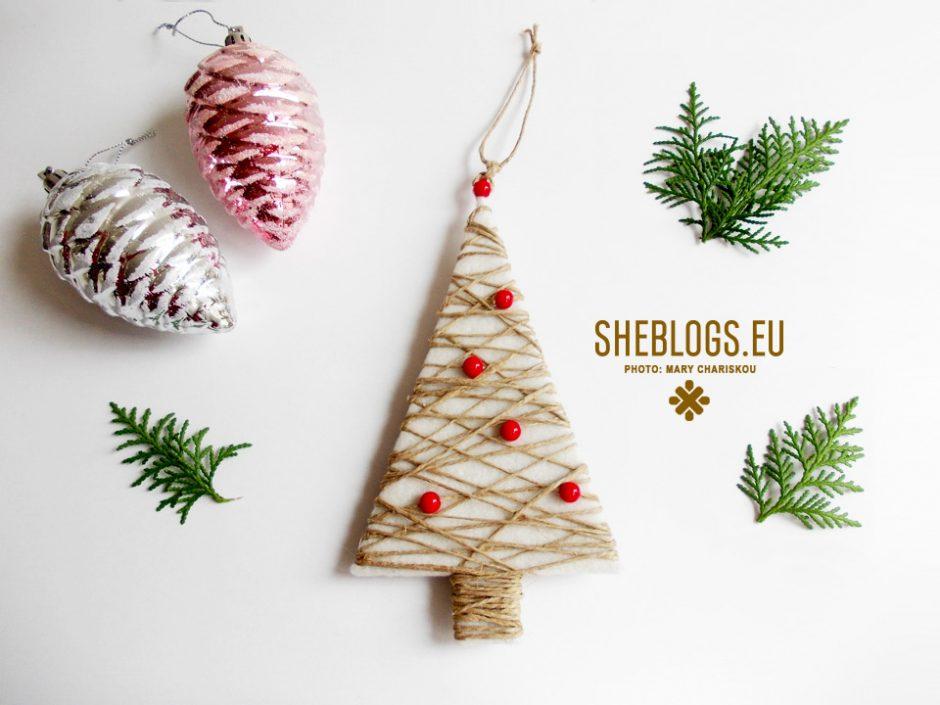 Φτιάξε χριστουγεννιάτικα δεντράκια με σπάγκο