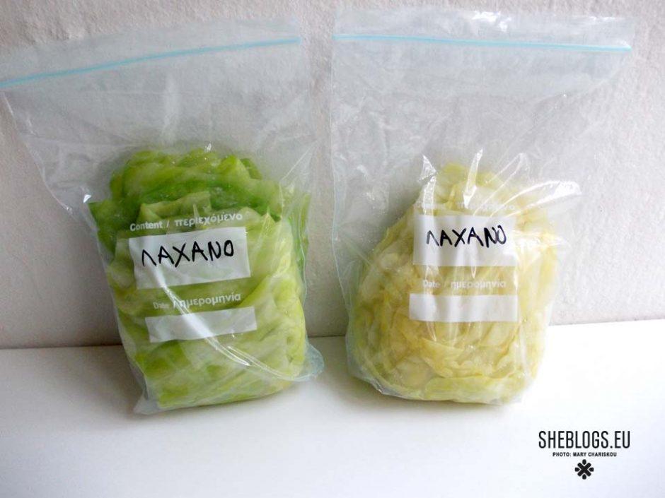 Λάχανο για λαχανοντολμάδες στην κατάψυξη