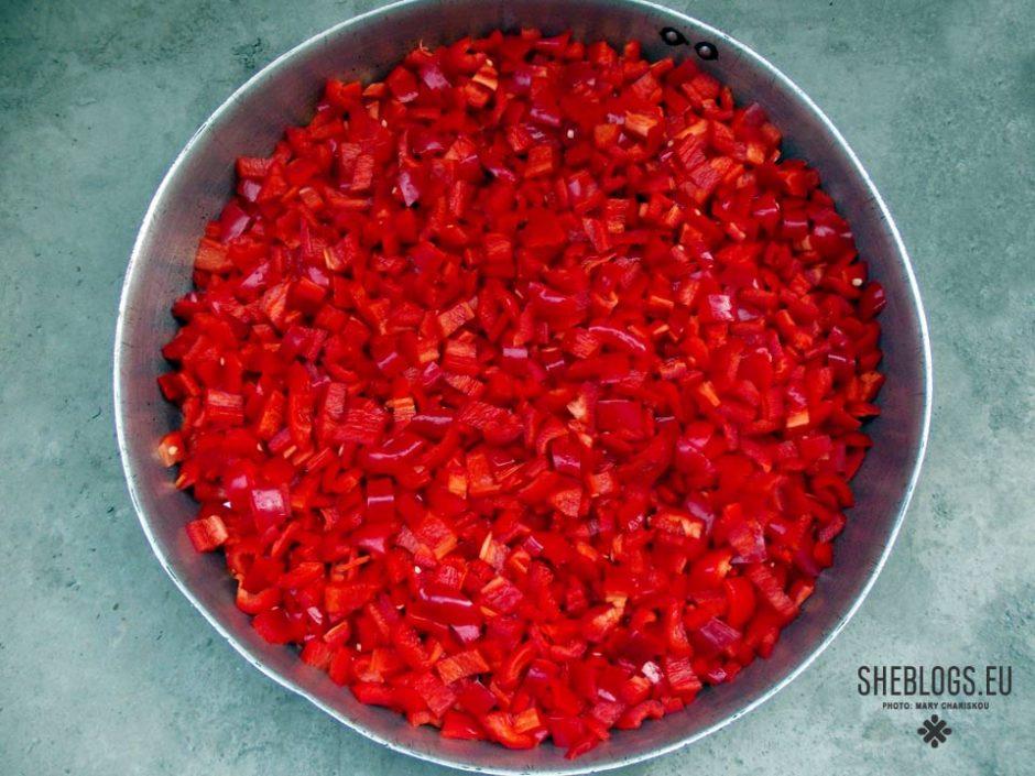 πιπεριές φλωρίνης στην κατάψυξη