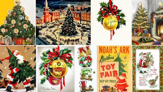 Vintage Χριστούγεννα μιας άλλης εποχής: 1945 - 1970
